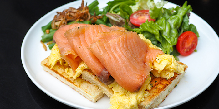 Smoked Salmon Breakfast from The Caxton located in Jing