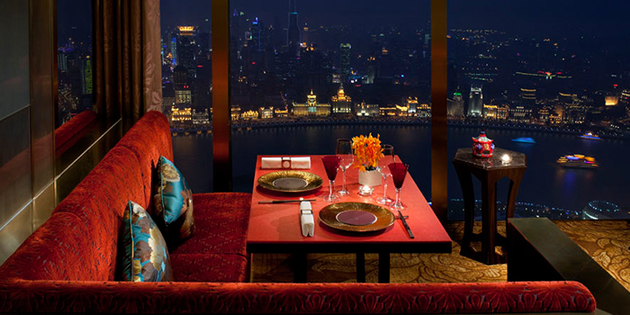 Dining table of JinXuan located in Pudong, Shanghai