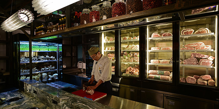 Meat Section of Qimin Organic Hotpot Marketplace (Reel) located in Jing
