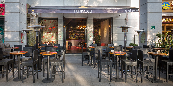 Outdoor Seating Area of Funkadeli located in Xuhui, Shanghai