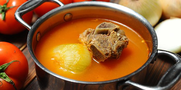 Soup from Qimin Organic Hotpot Marketplace (Hengshan Lu) located in Xuhui, Shanghai