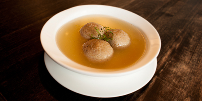 Matzoh Ball Soup from Tocks A Montreal Deli located in Huangpu, Shanghai