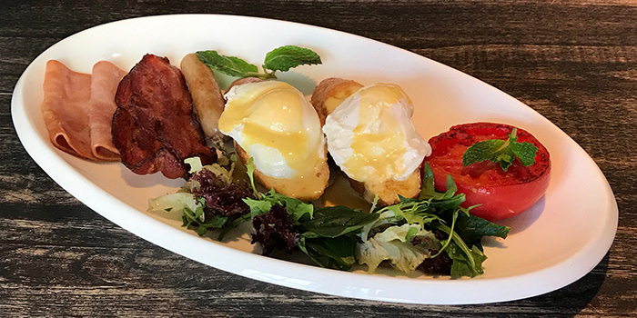 Poached Eggs from Tocks A Montreal Deli located in Huangpu, Shanghai
