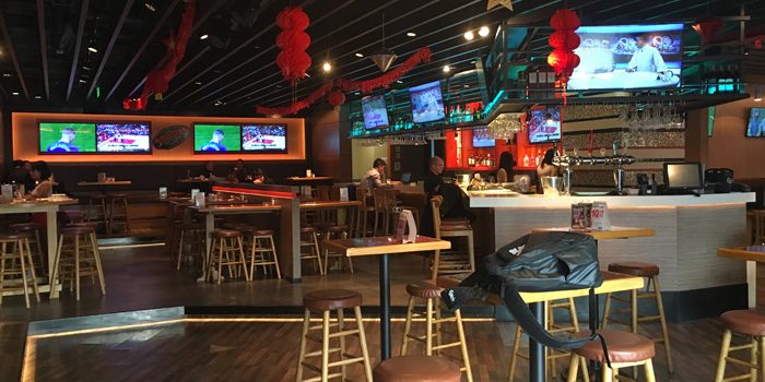 Indoor of Hooters located on Lujiazui Xi Lu, Pudong, Shanghai