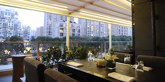 Outdoor of T8 Restaurant & Bar located on located on Hubin Lu, Huangpu, Shanghai