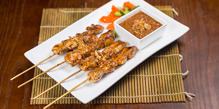 Grilled Chicken Satay Skewer from Bumbu in Jing