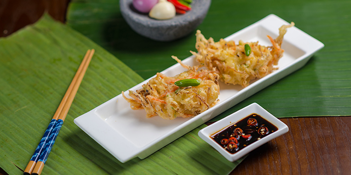 Vegetable Fritters from Bumbu in Jing