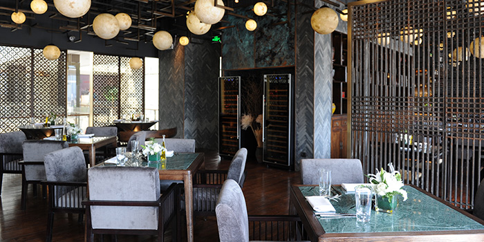 Indoor of T8 Restaurant & Bar located on located on Hubin Lu, Huangpu, Shanghai