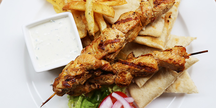 Food of Greek Taverna Milos located on Laowaijia, Minhang District, Shanghai, China