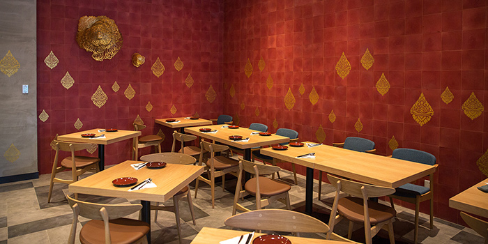 Indoor of Andaman Thai located on Shenchang Lu, Minhang, Shanghai
