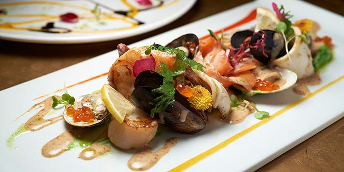 Food of T8 Restaurant & Bar located on located on Hubin Lu, Huangpu, Shanghai