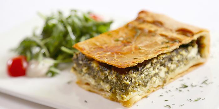 Spinach Pie of Greek Taverna Milos located on Laowaijia, Minhang District, Shanghai, China