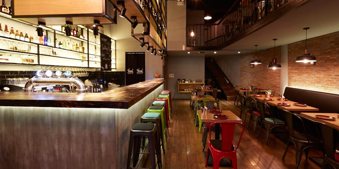 Indoor of Viva! Urban Cuisine & Bar located on Weihai Lu, Jing