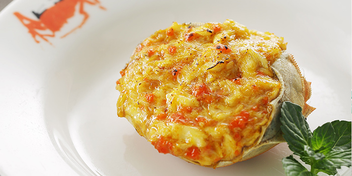 Baked stuffed crab shell of Ye Shanghai located on Huangpi Nan Lu