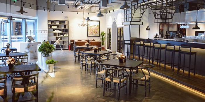 Interior of Reve Kitchen located in Minhang, Shanghai