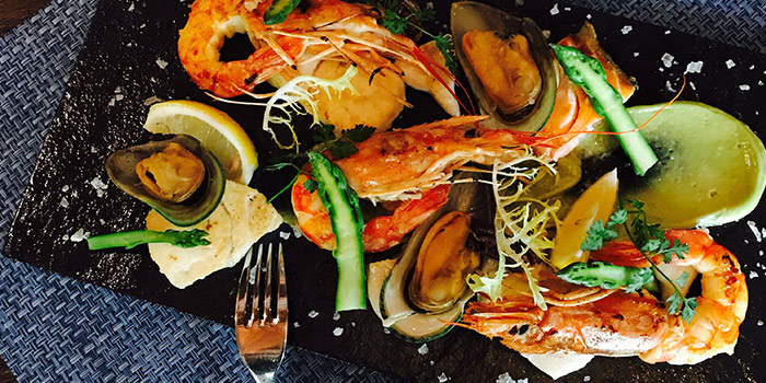Prawns from La Villa Rouge located in Xuhui, Shanghai