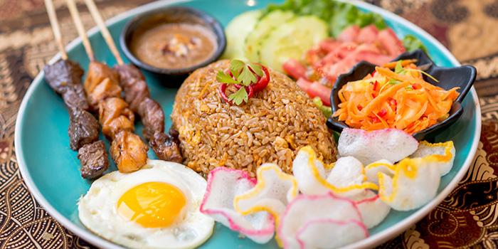 Rice Satay from Bali Bistro & Balini Coffee located in Jing