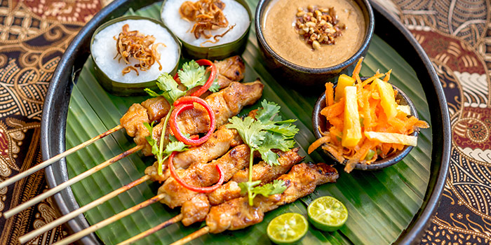 Satay from Bali Bistro & Balini Coffee located in Jing