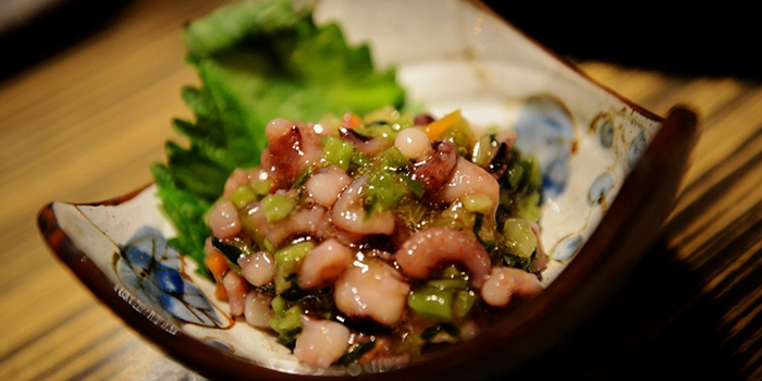 Wasabi Octopus from Dozo Modern Dining Bar located in Jing
