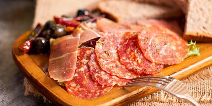 Cold cuts from Heat French Rotisserie & Bistro located in Jing