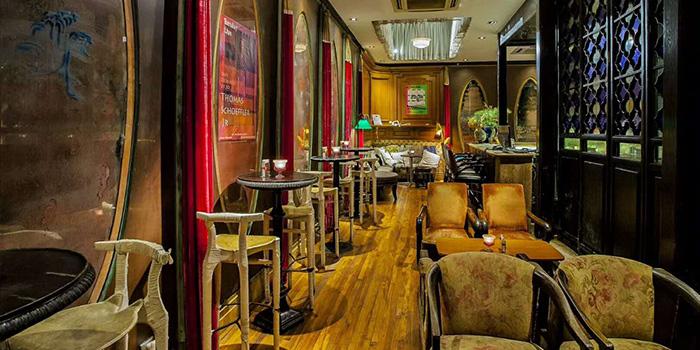 Interior of Keep It Quiet bar (Yongfoo Elite) located in Xuhui, Shanghai