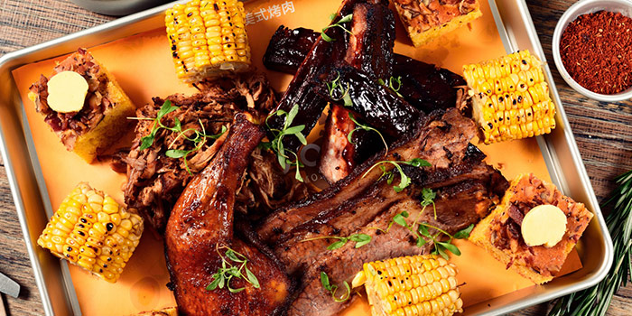 Meat Platter from The Blind Pig Bourbon and Smokehouse located in Jing