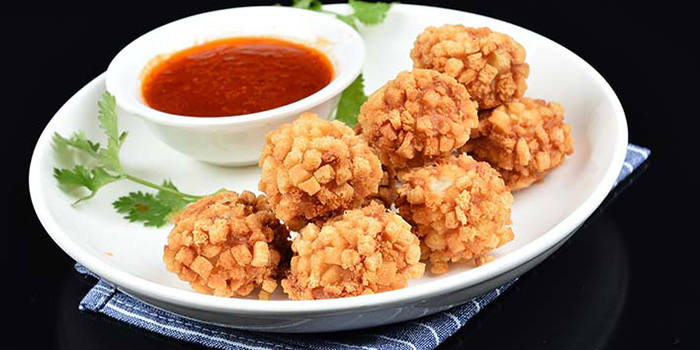 Prawn balls from Hunan Country Cuisine located in Xuhui, Shanghai