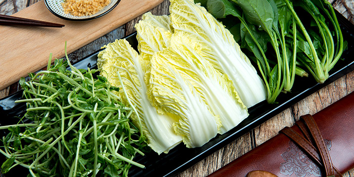 Vegetables from PHOENIX Hotpot Bar located in Minhang, Shanghai
