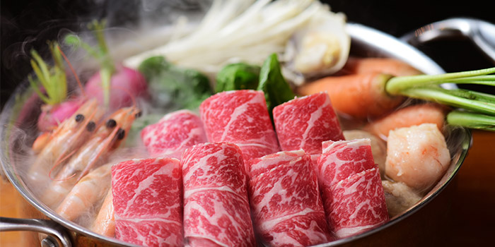 Dishes of Qimin Organic Hotpot Marketplace (Takashimaya) located in Changning, Shanghai