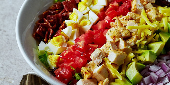 Cobb salad from Element Fresh Shanghai Center located on Nanjing Xi Lu, Jing