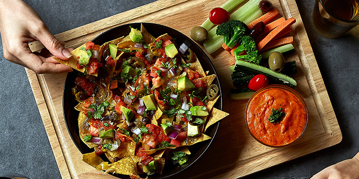 Nachos from Element Fresh Shanghai Center located on Nanjing Xi Lu, Jing