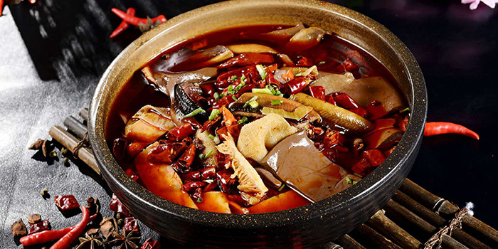 Spicy pot from Tian La Green Fashion Restaurant (Takashimaya) located in Changning, Shanghai
