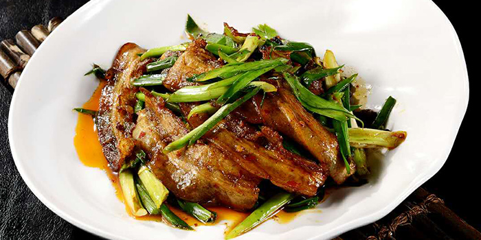 Stir Fried Pork from Tian La Green Fashion Restaurant (Jin Hongqiao) located in Changning, Shanghai