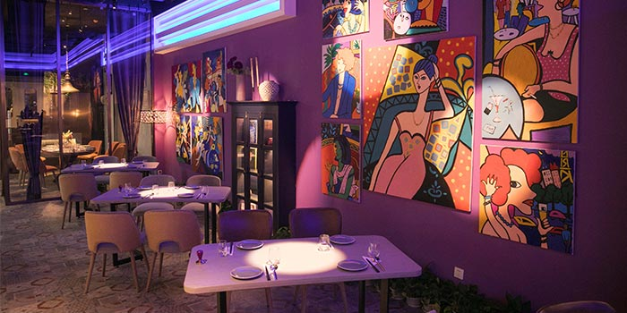 Indoors of The Purple Garlic Tapas located in Pudong, Shanghai