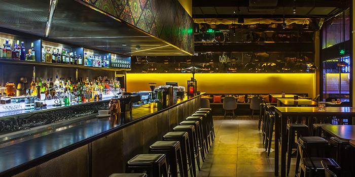 Interior of Bombay Bistro located in Huangpu, Shanghai