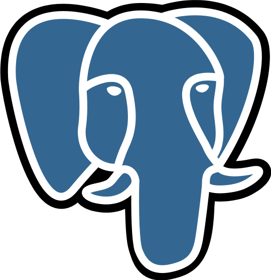 PostgreSQL large elephant 540x557