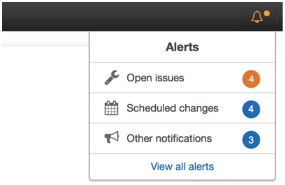 AWS Personal Health Dashboard Alerts