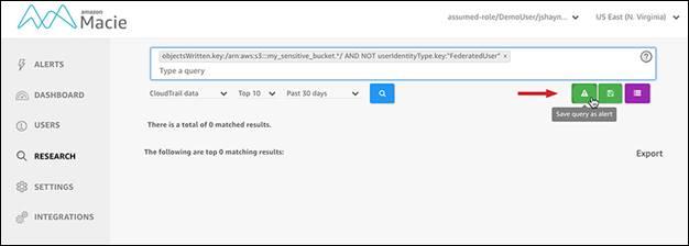 如何使用 Amazon Macie 创建自定义提醒