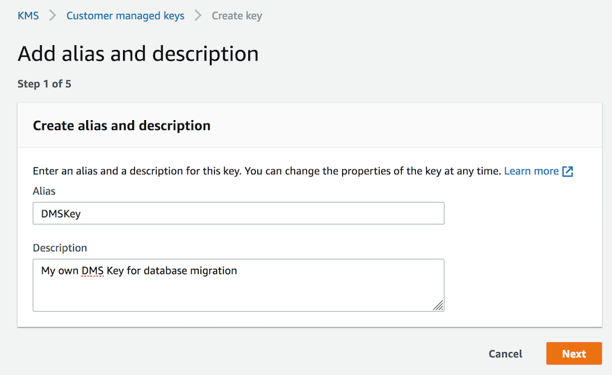 DMS 服务支持加密数据库迁移实例