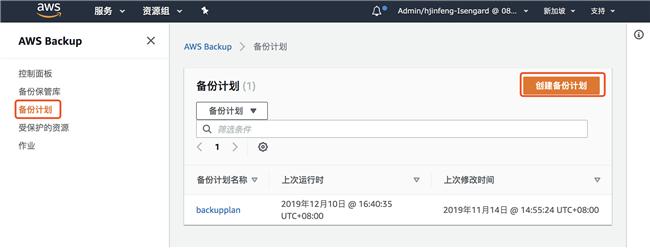使用 AWS Backup 来进行备份生命周期的集中管理(一)
