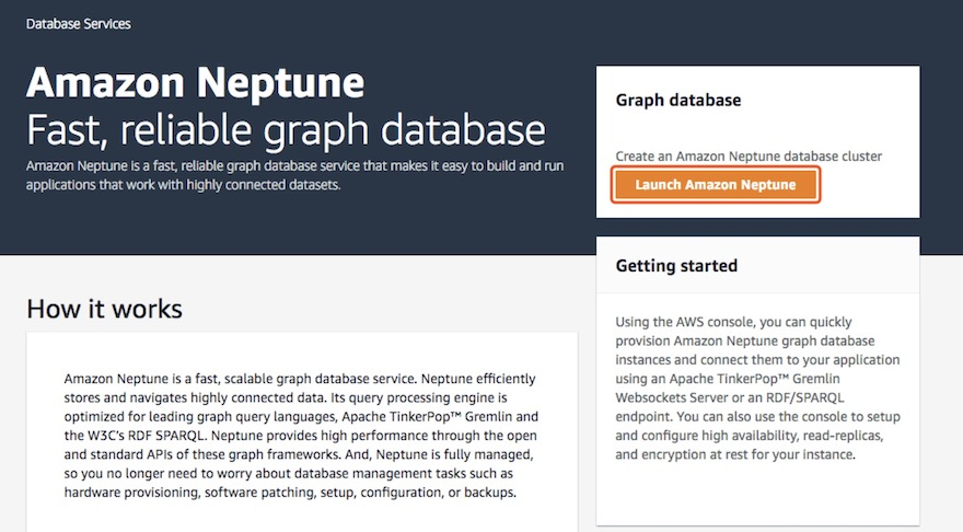 使用 Amazon Neptune 构建基于图数据库的应用