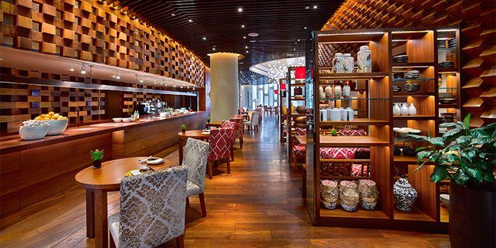 Interior of Hai Pai Restaurant in Andaz Xintiandi, Shanghai