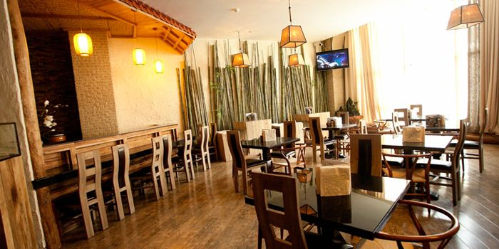 Interior of Art-restaurant Dacha at Ritan Hotel in Ritan, Beijing
