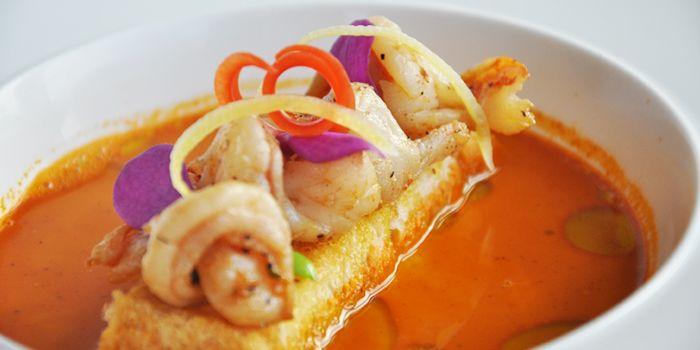 Seafood Broth from Albero Spanish Restaurant in Grand Kempinski Hotel Shanghai, Pudong, Shanghai