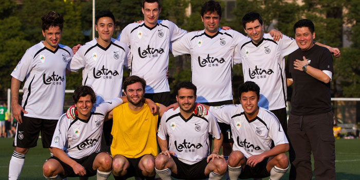 Football Team of Latina (Chamtime Plaza) in Pudong, Shanghai