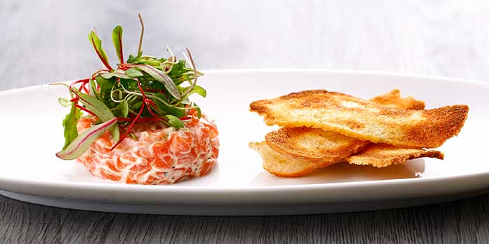 Norwegian Salmon Tartare from Jade on 36 Restaurant in Pudong, Shanghai