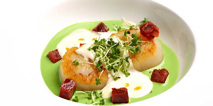 Scallops from Jade on 36 Restaurant in Pudong, Shanghai