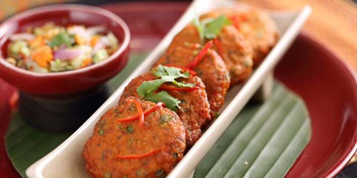 Fish-cake from Patara Fine Thai Cuisine restaurant in Dongcheng District, beijing