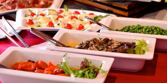 Salad Selection from Seve Restaurant located in Jing