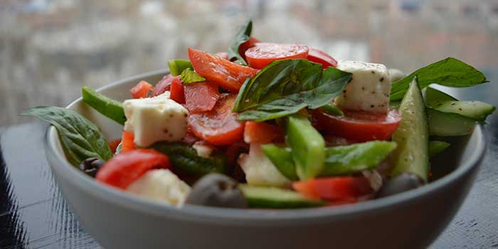 Greek Papa Salad from Kartel Wine Bar in Jing